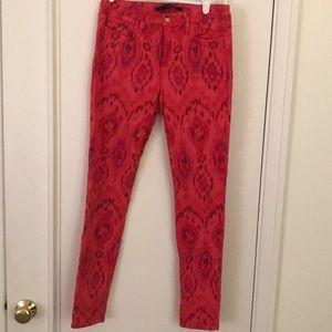 Printed Denim Pants